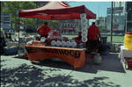 Selling food at the 1995 African Festival in Newark, NJ