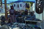 A vendor at the 1995 African Festival in Newark, NJ by Ace (Armando) Alagna, 1925-2000