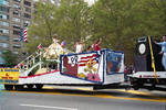 The float of 'la reina' in the 1995 Puerto Rican Parade