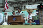 Speeches from the dais during the 1995 Puerto Rican Parade