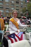 Miss Newark rides in the 1995 Puerto Rican Parade