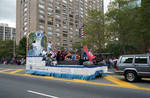 Columbus Hospital float in the 1995 Puerto Rican Parade by Ace (Armando) Alagna, 1925-2000