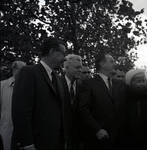 Governor Richard Hughes, Vice-President Hubert Humphrey  and others  during visit to Liberty Island for signing of the 1965 Immigration Bill