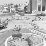 Building the new park, St. Francis Xavier, Newark, NJ by Ace (Armando) Alagna, 1925-2000