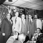 Brendan Byrne and others at a political breakfast for at Don's 21