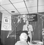 Brendan Byrne speaks at a political breakfast at Don's 21