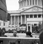 Ace Alagna and his camera at an inauguration by Ace (Armando) Alagna, 1925-2000