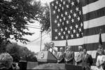 George H. Bush speaks at a political rally