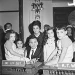 NJ Assembly member C. Richard Fiore and his family in the assembly chamber