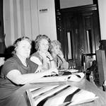 Three women working in the New Jersey State Assembly Chambers