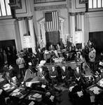 Governor William T. Cahill giving a budget address to the State Assembly, April, 1970