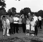 Essex County Sheriff Ralph D'Ambola takes a picture with guests at his picnic by Ace (Armando) Alagna, 1925-2000