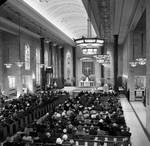 View from the choir loft of a Mass for the inauguration of Governor Hughes