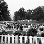 Mourners at John F. Kennedy's grave