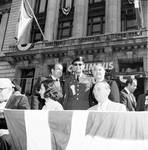 Peter W. Rodino and other members of the Columbus Day Committee in the grand stand
