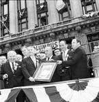 Peter W. Rodino and other members of the Columbus Day Committee celebrate