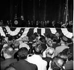 Peter W. Rodino delivers a speech at a political event
