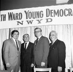 Peter W. Rodino with group at North Ward Young Democrats event, Newark, NJ
