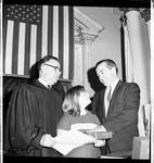 A swearing in at the opening session of the NJ legislature by Ace (Armando) Alagna, 1925-2000