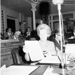 NJ Assembly member Josephine Margetts consults a document
