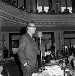 NJ  State Assembly member John J. Horn speaks in the Assembly chamber