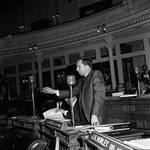 NJ  State Assembly member James S. Cafiero speaks in Assembly chambers