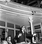 NJ State Assembly member (later Chief Justice) Robert Wilentz speaks in the Assembly chamber