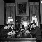 NJ Governor Richard Hughes and other legislators at work