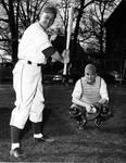 Bob Knoth (batter) and John St. John (catcher)