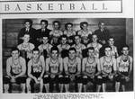 Basketball team photo from White & Blue yearbook
