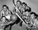 Basketball team with baseball equipment