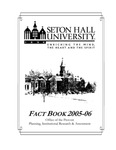 Fact Book 2005-2006 by Office of Institutional Research, Seton Hall University