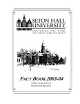 Fact Book 2003-2004 by Office of Institutional Research, Seton Hall University