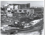 Construction of Walsh Library facing Duffy