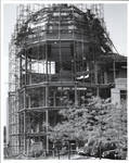 Construction of dome for Walsh Library