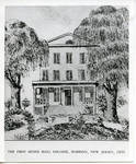Architect's drawing of Madison, N.J., 1856 (not original/photo of print) of Seton Hall College