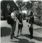 Students in front of the Immaculate Conception Chapel