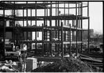 Walsh Library construction and rotunda construction