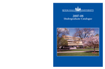 Undergraduate Catalogue 2007-2008 by Seton Hall University