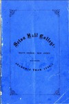 Seton Hall College, South Orange, New Jersey; Register: Academic Year 1866-1867
