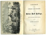 Catalogue of the officers and students of Seton Hall College 1868-1869