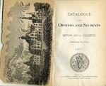 Catalogue of the officers and students of Seton Hall College 1877 by Seton Hall College