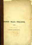 Catalogue of the officers and students of Seton Hall College 1886 by Seton Hall College